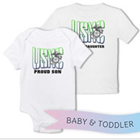 _T-Shirt/Onesie (Toddler/Baby): USMC Family -green