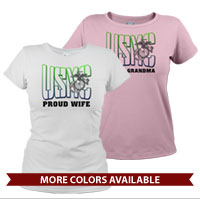 _T-Shirt (Ladies): USMC Family -green