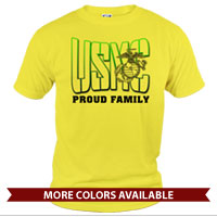 _T-Shirt (Unisex): USMC Family -green