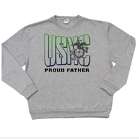 _Hoodie or Sweatshirt: USMC Family -green