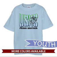 _T-Shirt (Youth): USMC Family -green