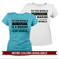 _T-Shirt (Ladies): That Marine is My World