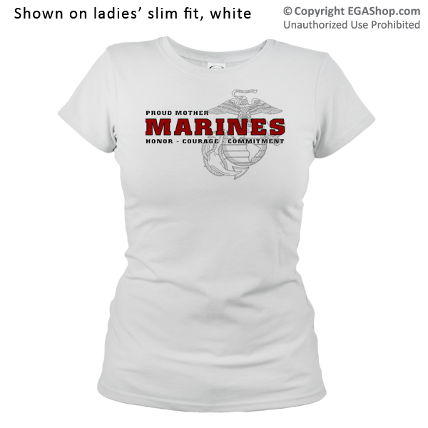 _T-Shirt (Ladies): Honor, Courage, Commitment - Family
