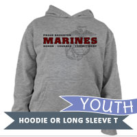 _Youth Hoodie or Long Sleeve Shirt: Honor, Courage, Commitment - Family