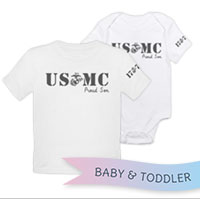 _T-Shirt/Onesie (Toddler/Baby): USMC EGA Family