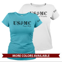 _T-Shirt (Ladies): USMC EGA Family