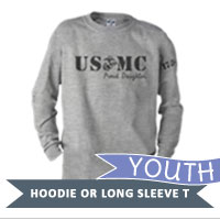 _Youth Hoodie or Long Sleeve Shirt: USMC EGA Family
