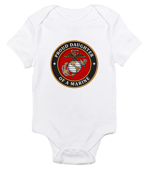 _T-Shirt/Onesie (Toddler/Baby): USMC Seal Family