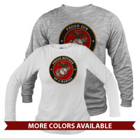 _Long Sleeve Shirt (Unisex): USMC Seal Family