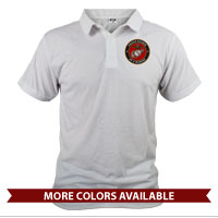 _Polo (Unisex): USMC Seal Family