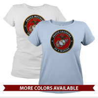 _T-Shirt (Ladies): USMC Seal Family