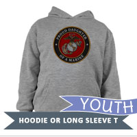 _Youth Hoodie or Long Sleeve Shirt: USMC Seal Family