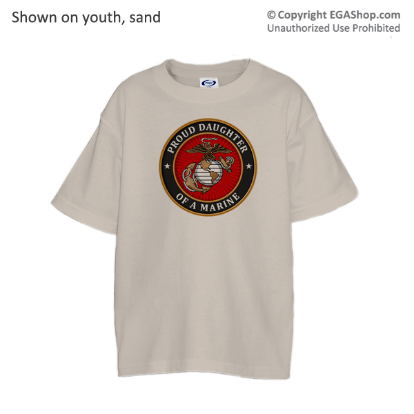 _T-Shirt (Youth): USMC Seal Family