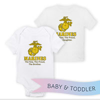 _T-Shirt/Onesie (Toddler/Baby): Yellow Marines Family