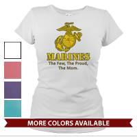 _T-Shirt (Ladies): Yellow Marines Family