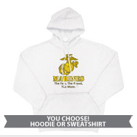 _Sweatshirt or Hoodie: Yellow Marines Family