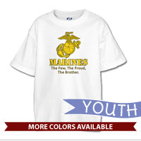 _T-Shirt (Youth): Yellow Marines Family