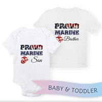 _T-Shirt/Onesie (Toddler/Baby): Proud Family Flag