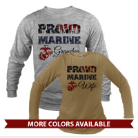 _Long Sleeve Shirt (Unisex): Proud Family Flag