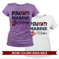 _T-Shirt (Ladies): Proud Family Flag
