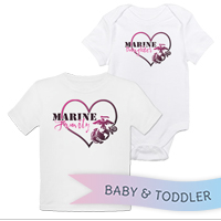 _T-Shirt/Onesie (Toddler/Baby): Marine Love