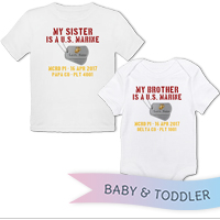 _T-Shirt/Onesie (Toddler/Baby): My ___ Is A U.S. Marine