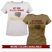 _T-Shirt (Ladies): My ___ Is A U.S. Marine