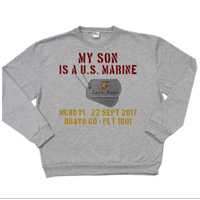 _Hoodie or Sweatshirt: My ___ Is A U.S. Marine