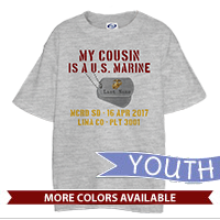 _T-Shirt (Youth): My ___ Is A U.S. Marine