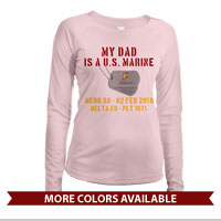 _Long Sleeve Shirt (Ladies, Solar): My ___ Is A U.S. Marine