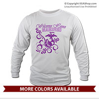 _Long Sleeve Shirt (Unisex): Homecoming Purple Scrolls