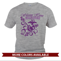 _T-Shirt (Unisex): Homecoming Shirts, Purple Scrolls