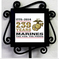 Garden Stake and Tile: 2014 Marine Corps Birthday