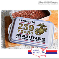 Cake Pan and Lid: 2014 Marine Corps Birthday