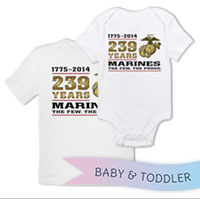 _T-Shirt/Onesie (Toddler/Baby): 2014 Marine Corps Birthday
