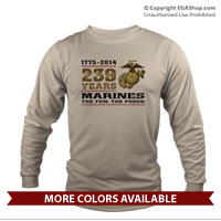 _Long Sleeve Shirt (Unisex): 2014 Marine Corps Birthday
