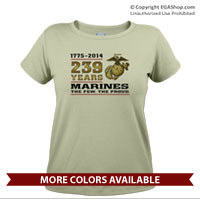_T-Shirt (Ladies): 2014 Marine Corps Birthday