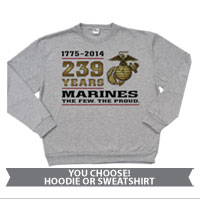 _Sweatshirt or Hoodie: 2014 Marine Corps Birthday