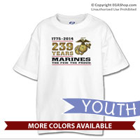_T-Shirt (Youth): 2014 Marine Corps Birthday