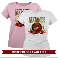 _T-Shirt (Ladies): 2015 Marine Corps Birthday