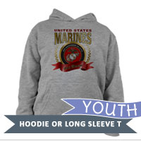 _Youth Hoodie or Long Sleeve Shirt: 2015 Marine Corps Birthday