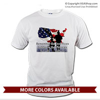 _T-Shirt (Unisex): 5/01/11 Remember the Sacrifices Celebrate the Victories (Short Sleeve)