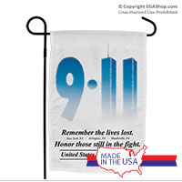 Garden Flag: 9/11 Remember the lives lost
