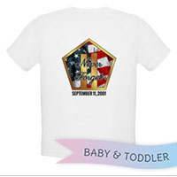 _T-Shirt/Onesie (Toddler/Baby): Never Forget 9/11