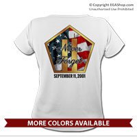 _T-Shirt (Ladies): Never Forget 9/11