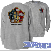 _Youth Long Sleeve Shirt: Never Forget 9/11