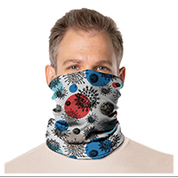 Gaiter Face Mask: Coronavirus Designs