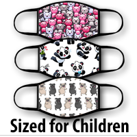 Face Covering Child Size: Animal Characters