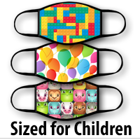 Face Covering Child Size: Colorful For Kids