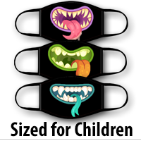 Face Covering Child Size: Funny Monster Mouths